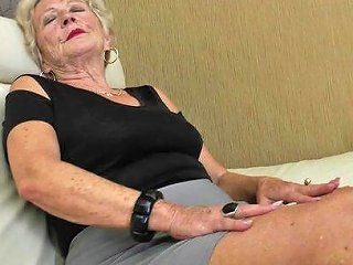 9654 Sexy Grandma Gets Her Beaver Wet