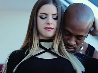 Black Lucky Dude Pleases Super Phat European Hoe Stella Cox With Tongue