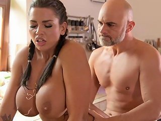 Sexy Busty Cook Chloe Lacourt Fucked In The Kitchen
