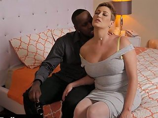 Fabulous Big Breasted White Milf Lets Black Stud Fuck Her Twat Mish