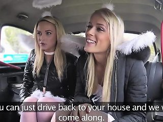 Two Ladies One Huge Dick In A Cab Sex