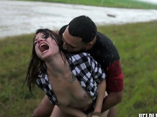 After Brutal Pounding Outdoors Submissive Kaisey Dean Has To Give Solid Blowjob