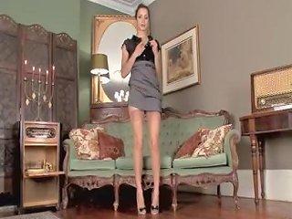 Hot Brunette Masturbates In Her Leopard Print Heels And Vintage Nylons 124 Redtube Free Masturbation Porn