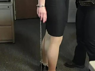 Anna Getting Arrested At Work By Sahrye