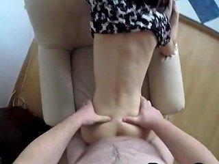 Big Belly Boyfriend Fucks His Skinny Girlfriend